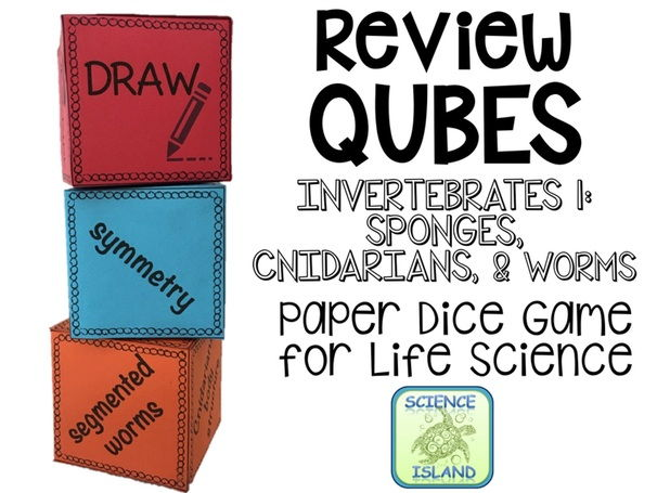 Sponges, Cnidarians, & Worms Review Qubes for Life Science