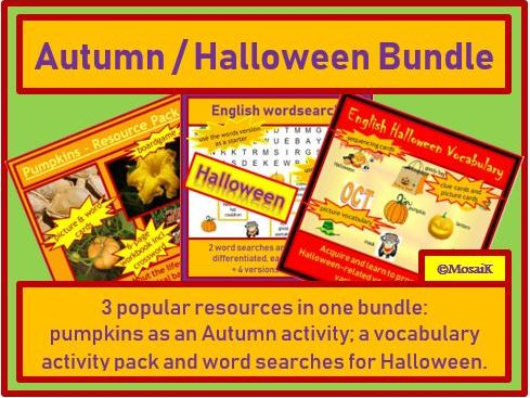 English, ESL, EAL - Halloween and Autumn BUNDLE of activities