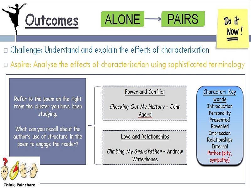 AQA Structure: Characterisation 3x lessons for Lang Paper 1 Q3, Q5, and Lit crossover