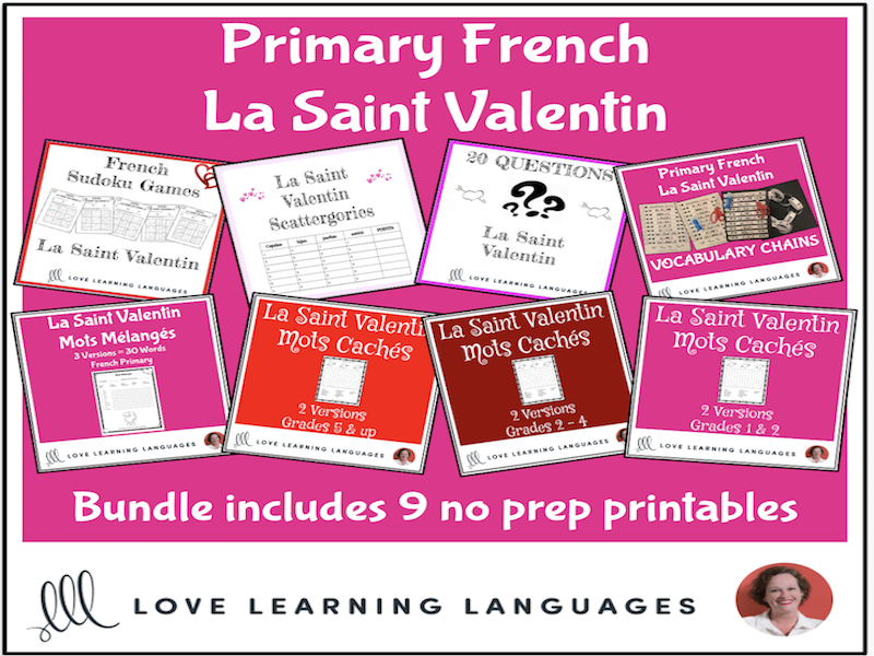 French Primary Valentine's Day Resource BUNDLE - La Saint Valentin