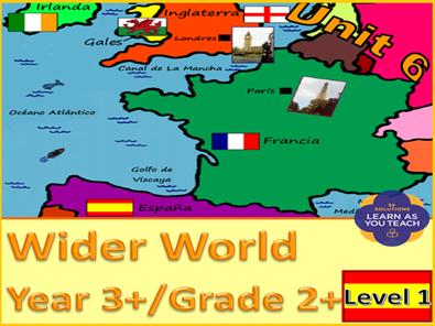 PRIMARY SPANISH UNIT -  WIDER WORLD (Premium Version)
