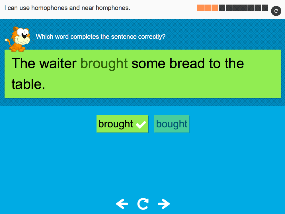 I can use homophones and near homophones - Interactive Activity - Year 6 Spag