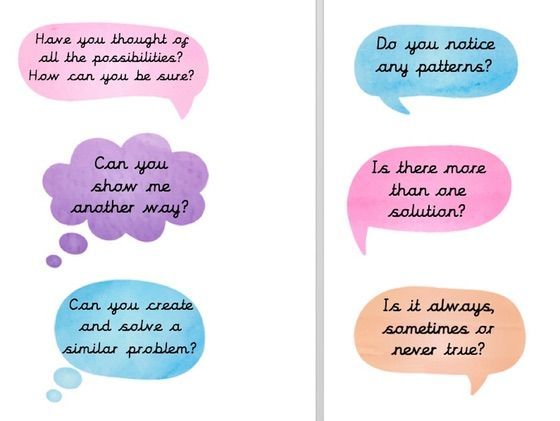 Maths Mastery display questions