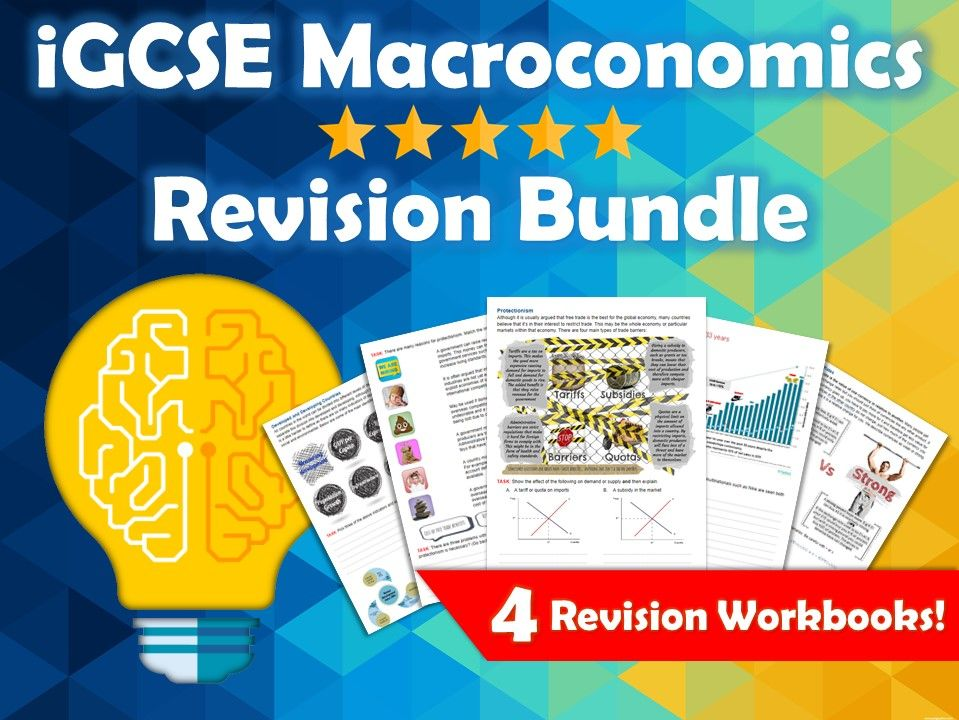 iGCSE Economics Macroeconomics Revision Bundle. Edexcel. 4 Revision Guides / Workbooks