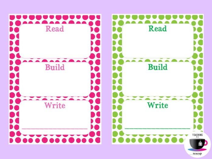 Read, Build, Write Boards - Word Work
