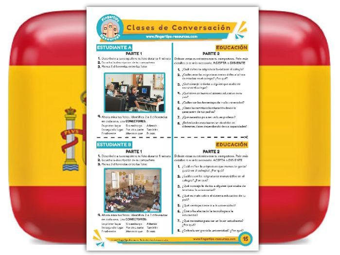 Educación - Spanish Speaking Activity