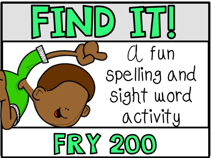 Tiny Word Hunt I SPY FRY 200 Words