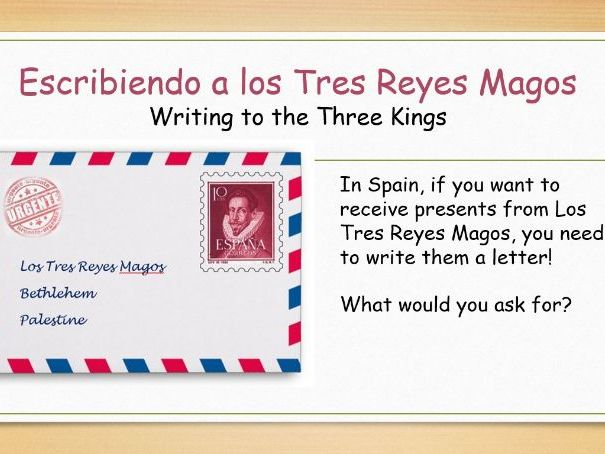 KS2 Spanish - Los Tres Reyes Magos (The Three Kings/Wise Men) Christmas
