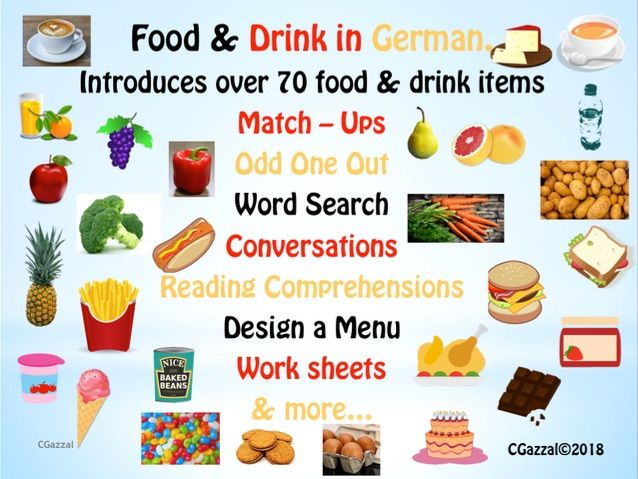 German – Food & Drink - A Complete Pack.