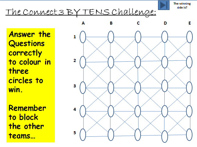 Connect 3 'By Tens' Quiz