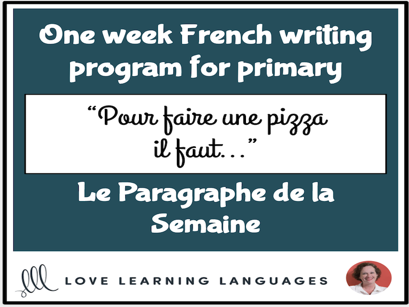Le paragraphe de la semaine #9 - French primary writing program