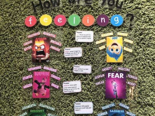 Inside Out themed emotions Display