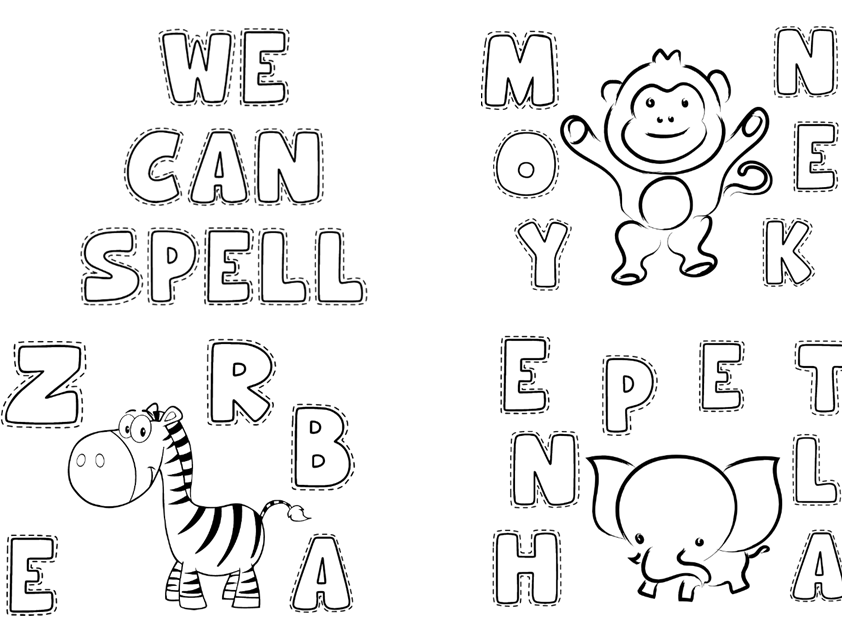 Animals Spelling with Capital Letters