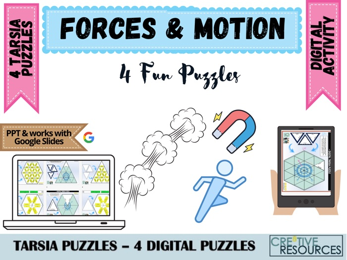 Forces and Motion - Physics Science Puzzles