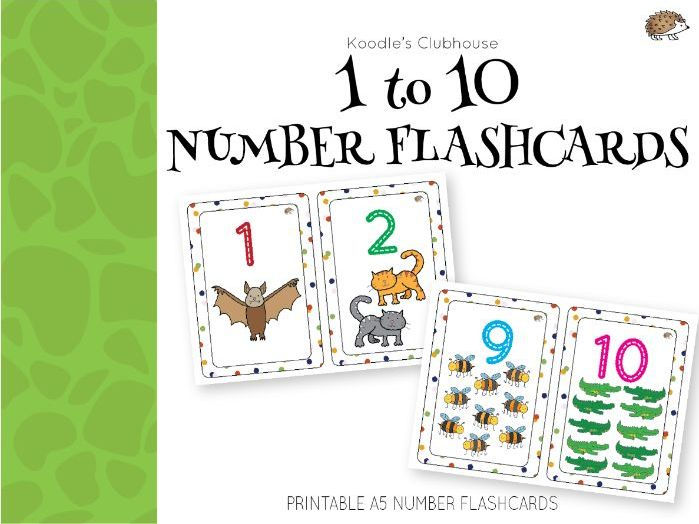 image about Printable Numbers 1 10 Flashcards identified as Figures 1 in the direction of 10 Flashcards by means of Koodlesch Coaching Elements