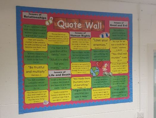 Religious Quotes/Teachings Display EDUQAS/AQA/OCR/EDEXCEL