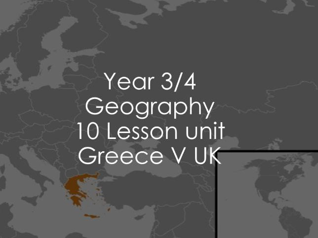 Year 3/4 Geography - Greece V UK
