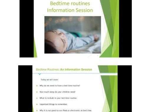 Bedtime Routines Information Presentation for Parents