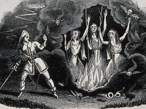 Macbeth Meets the Witches, Act 1, scene 3