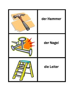Tools in German Concentration games