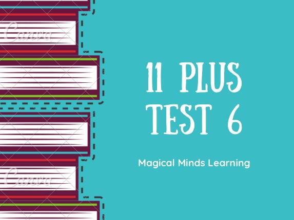 New 11 Plus Test 6: Ages 10-11