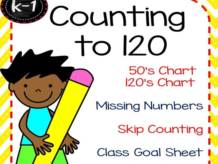 Countint to 120 Worksheets and Assessment