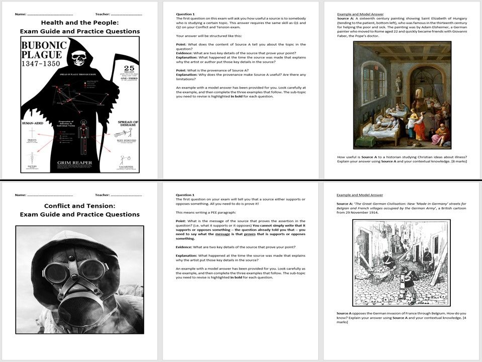 AQA 9-1 History Exam Guides and Practice Questions