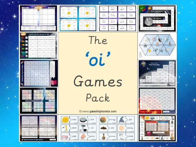 The 'oi' Phonics Games Pack (Phase 3)