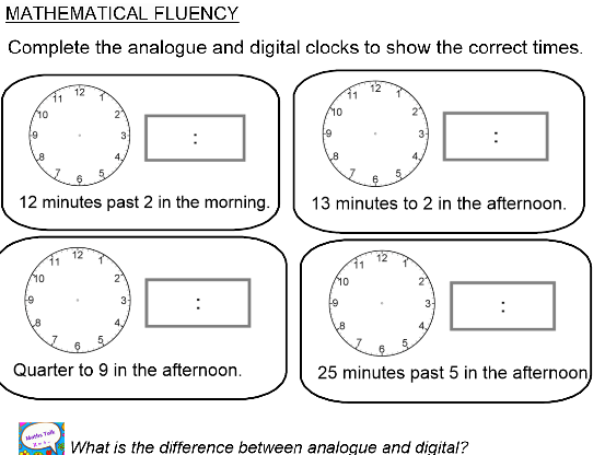 Summer Block: Y3 Block 2 Measurement:TIME Smart Notebook and PDF files following ORDER of White Rose