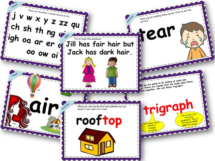 Phonics Powerpoint, Phase 3, Week 7 (ear,air,ure)