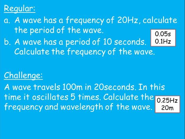 AQA GCSE P6 and P7 Equation Questions