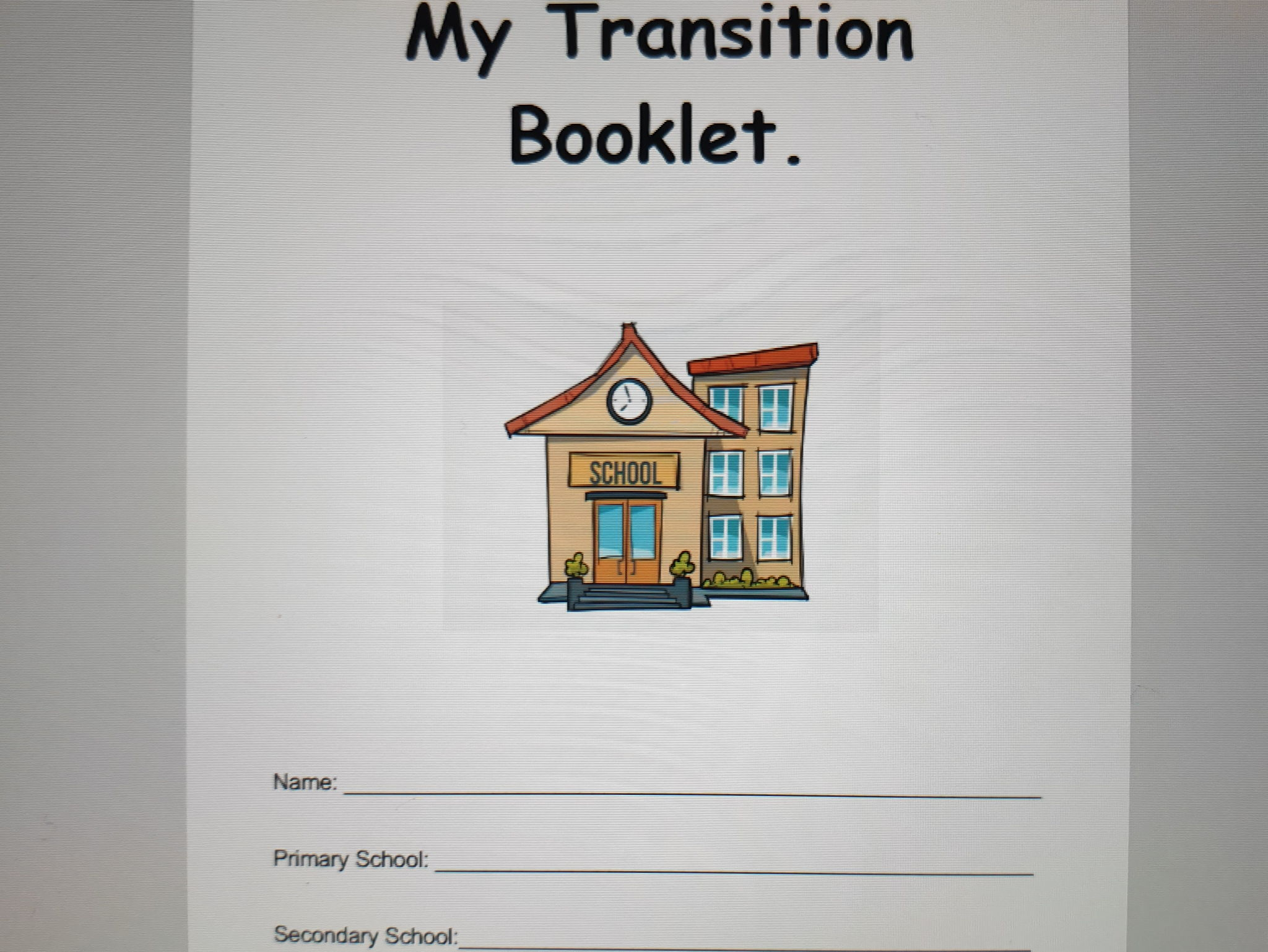 Transition booklet - for students