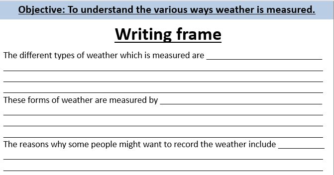 Measuring weather lesson