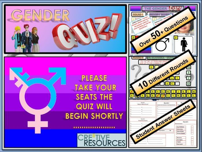 PSHE end of term Gender Quiz