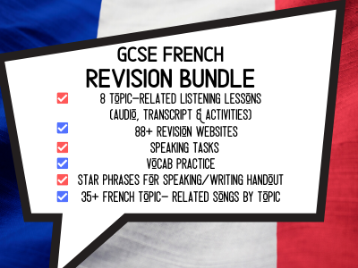 GCSE French Revision Bundle - 20 Quality French Speaking, Listening, Writing & Vocabulary Resources