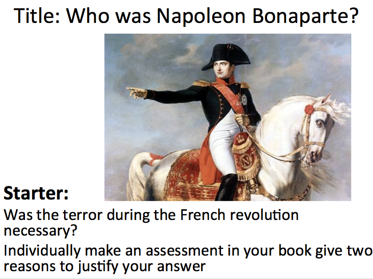 French Revolution - Lesson 4 Napoleon Bonaparte  please review if you download