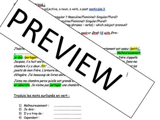 KS4 - Part 1Everyday life at home and at school - iGCSE - gap fills / writing tasks (long and short)