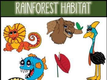 Rain Forest Habitat Clip Art