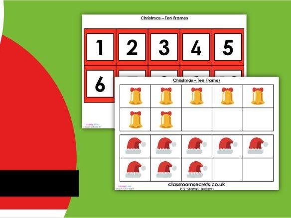 Christmas EYFS Ten Frames Activity