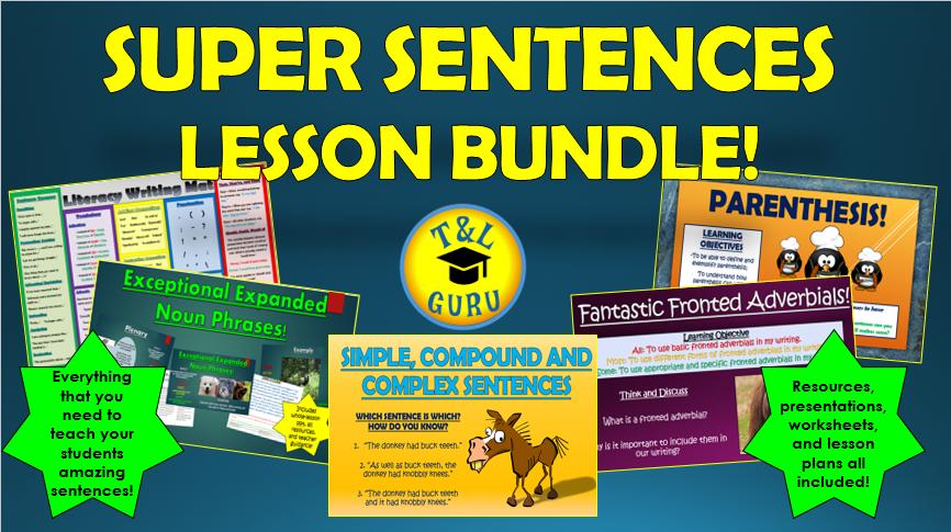 Super Sentences Lesson Bundle!