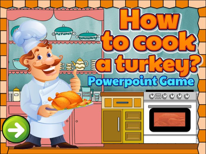 How To Cook a Turkey? Animated Powerpoint with sound effects