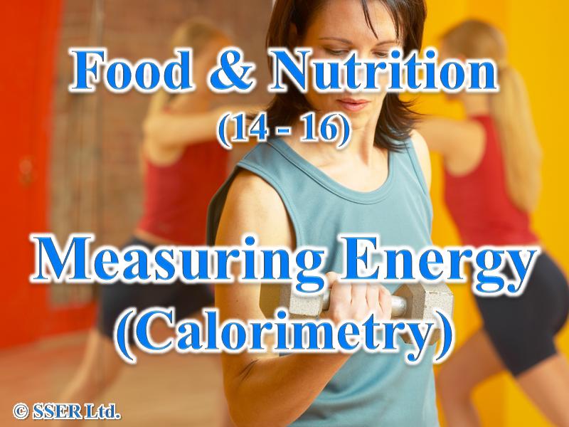 2.5 Measuring Energy - Calorimetry