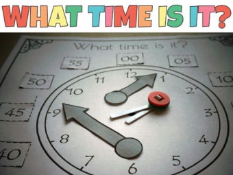 Clock Cut and Paste Telling Time