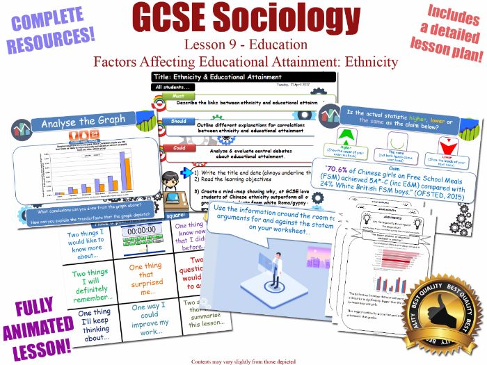 Educational Achievement (3) - Ethnicity - Sociology of Education L9/20[ WJEC EDUQAS GCSE Sociology ]