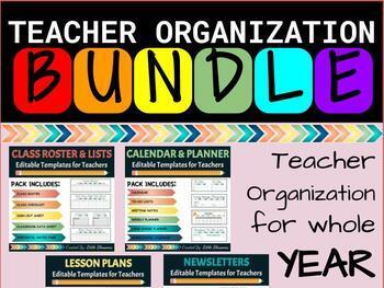 **BUNDLE** Teacher Calendar/Organization Bundle