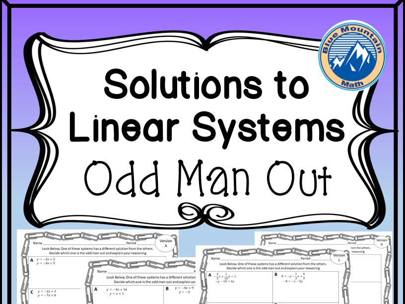 Linear Systems Odd Man Out