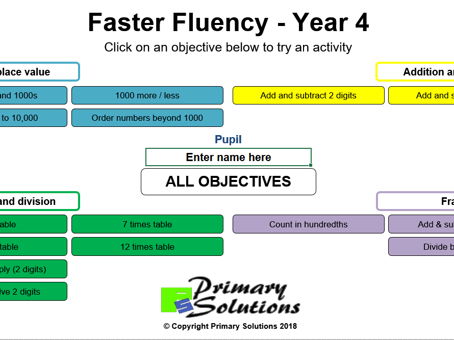 Faster Fluency - Year 4