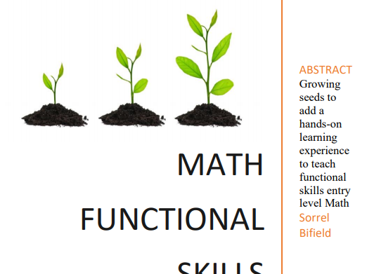 Entry Level Math Functional Skills Hands on Learning