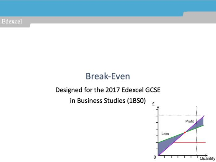 Break-Even: GCSE Business for Edexcel (9-1) (1BS0)