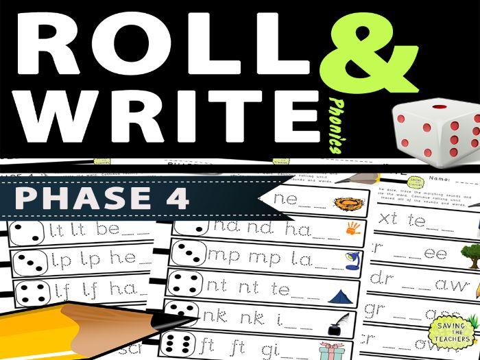 Phase 4 Phonics Handwriting / Spelling Dice Game